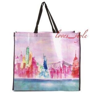 New TJ Maxx NYC Reusable Shopping Bag~New York City~Taxi~Travel Gift Eco Tote